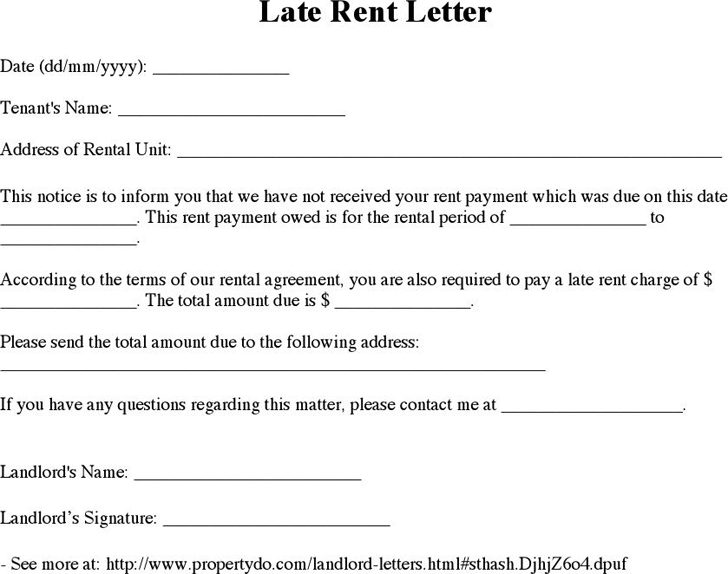 The Late Rent Notice Template can help you make a professional and ...