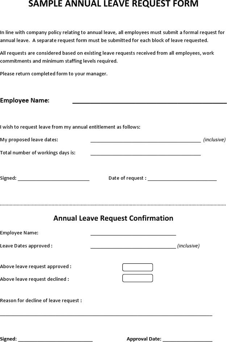 Leave Application E Mail Template  Application For Leave Form