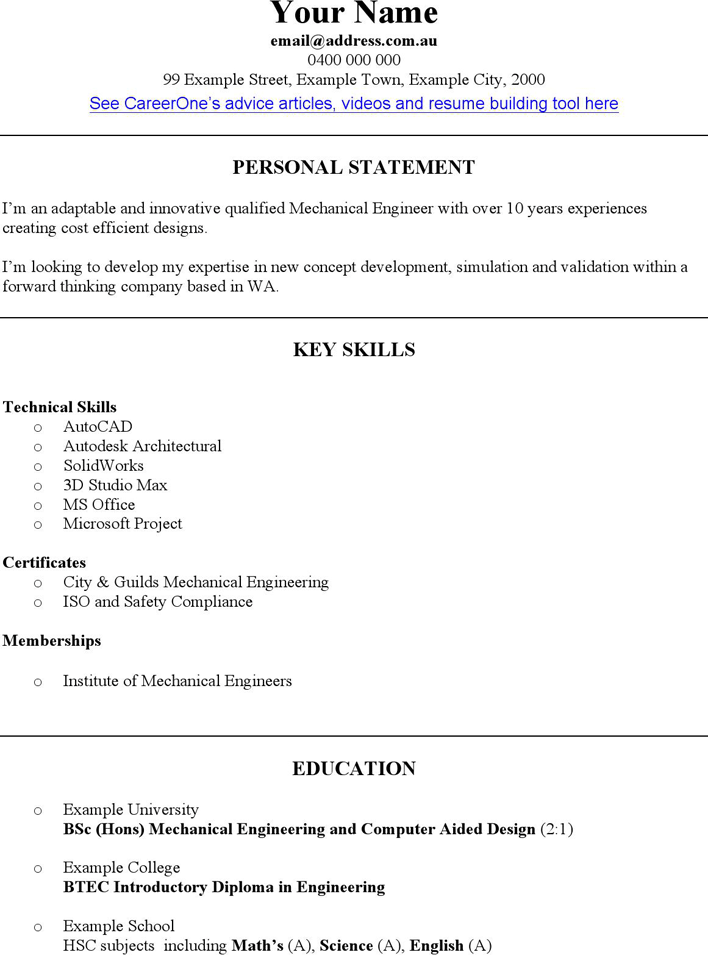 The Mechanical Engineer CV Template can help you make a – Engineering CV Template