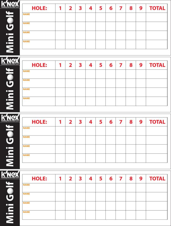 Download Mini Golf Scorecard for Free - TidyForm