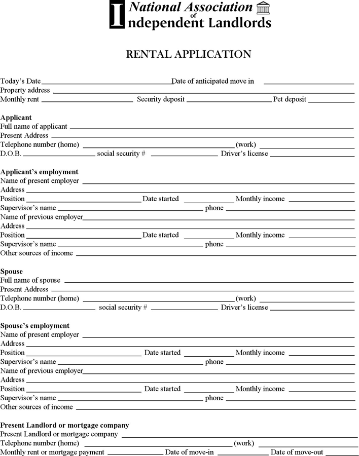 The Minnesota Rental Application Form can help you make a – Rent Application Form