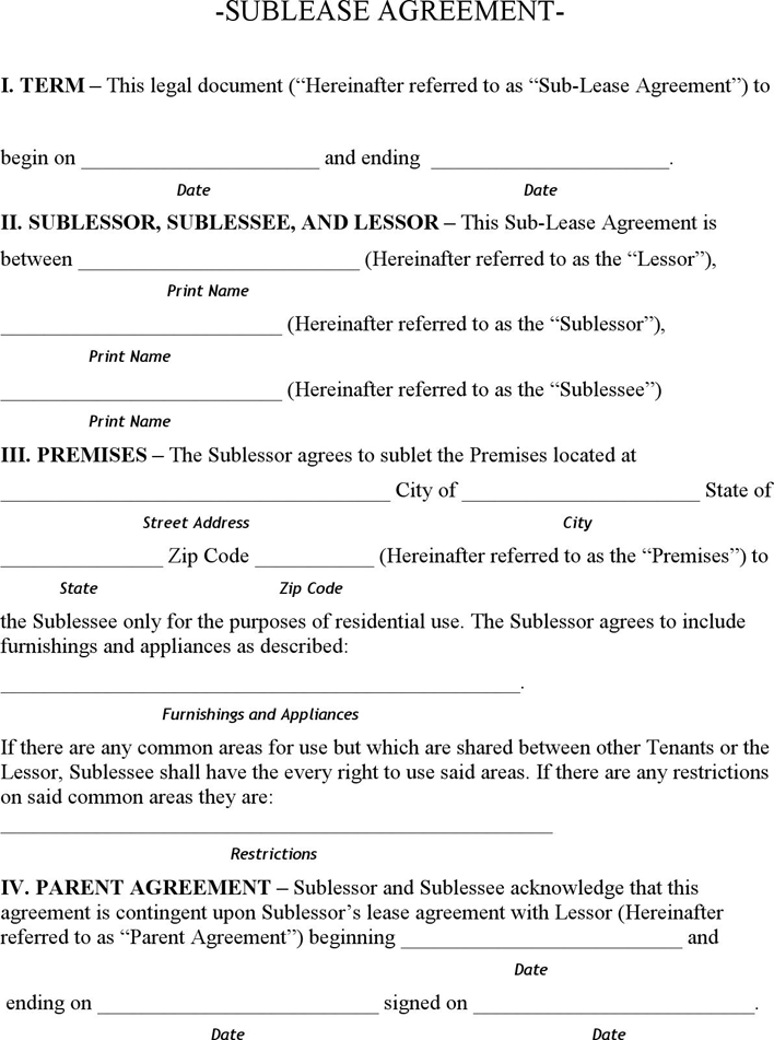 The Minnesota Sublease Agreement Form can help you make a – Sublet Contract Template