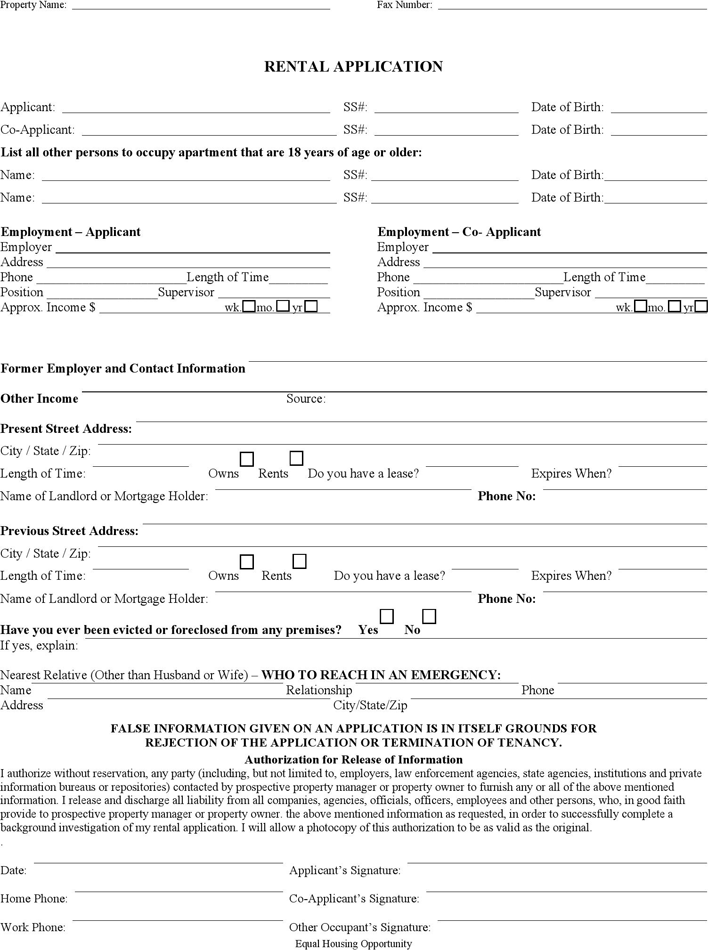 The Missouri Rental Application Form can help you make a – Rent Application Form
