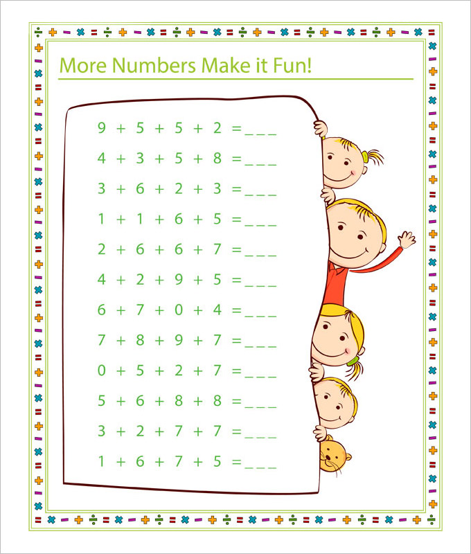 Math Worksheet Template