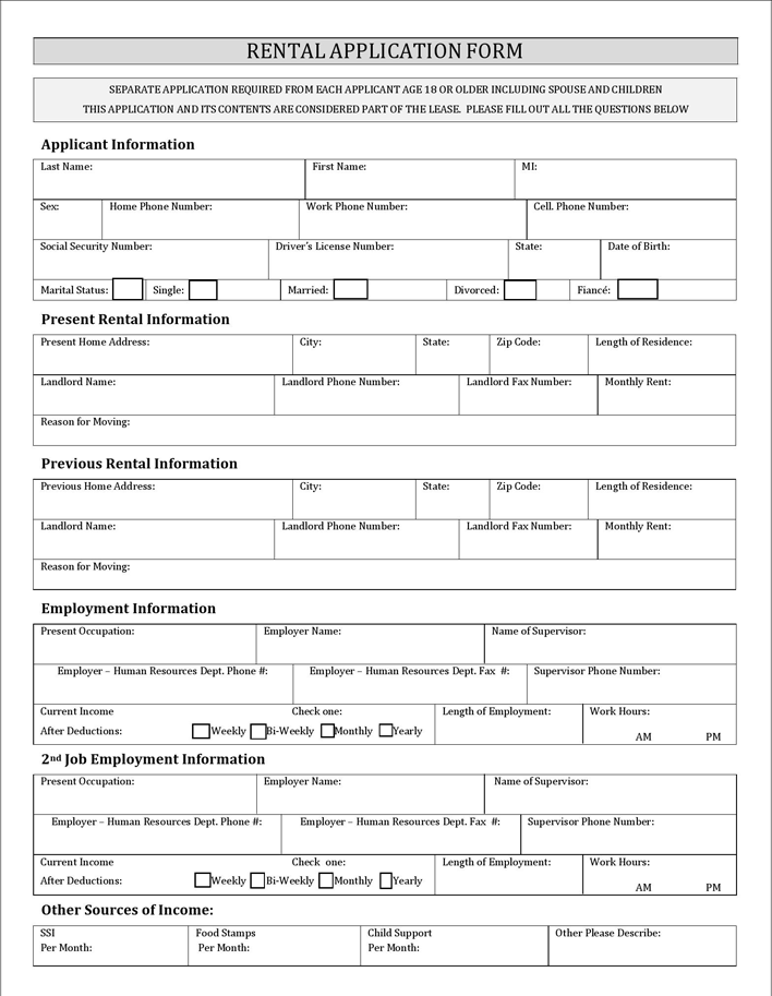 The New York Rental Application Form can help you make a – Rent Application Form