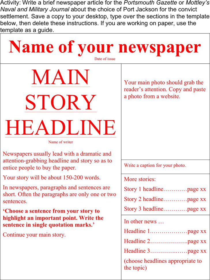 The Newspaper Template 1 can help you make a professional and ...