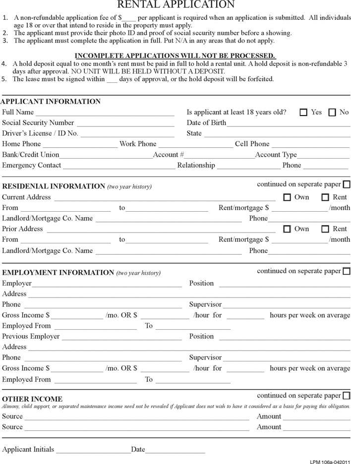 The Pennsylvania Rental Application Form can help you make a – Rent Application Form