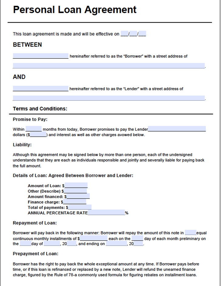 The Loan Agreement Template3 can help you make a professional and – Company Loan Agreement Template