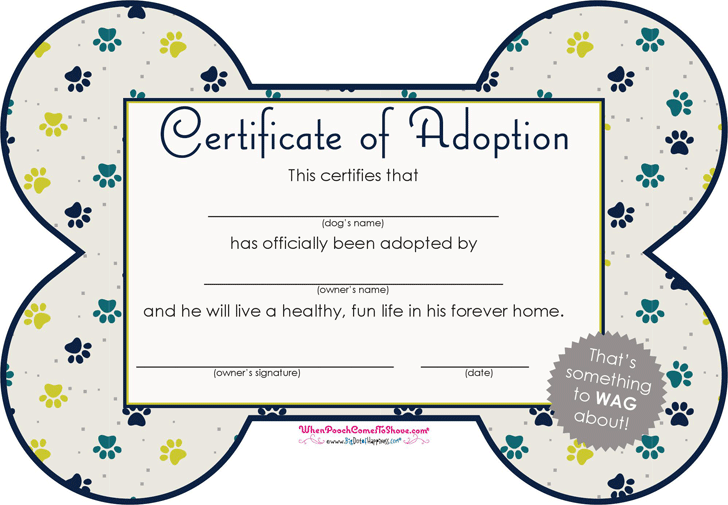 Download pet adoption certificate for free tidyform pet adoption certificate yadclub Image collections