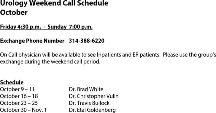 The Physician On Call Schedule Template can help you make a ...