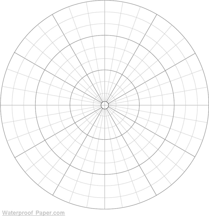 download polar graph paper divisions each 10 degrees for