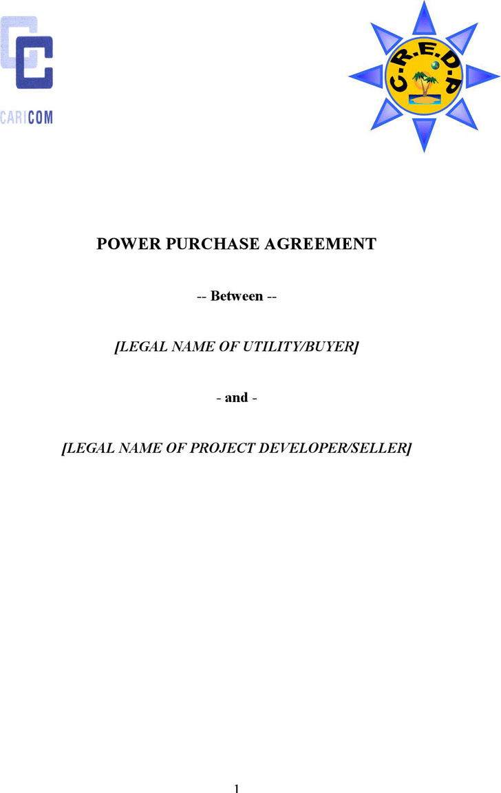 The Power Purchase Agreement Template can help you make a – Power Purchase Agreement