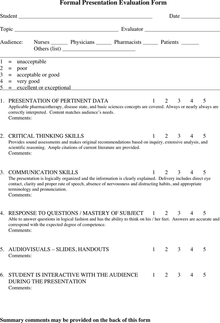 evaluation of formal assessment Assessment & evaluation federal leadership programs these assessments can be used for selecting new leaders, participants for leadership development programs.