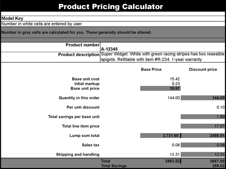 Product Pricing Calculator 1