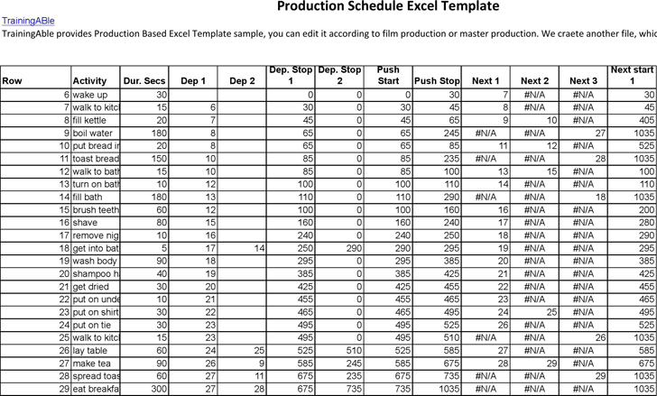 The Event Production Schedule Template can help you make a ...