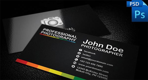 Download Professional Photography Business Card Template For Free - Photography business cards templates free