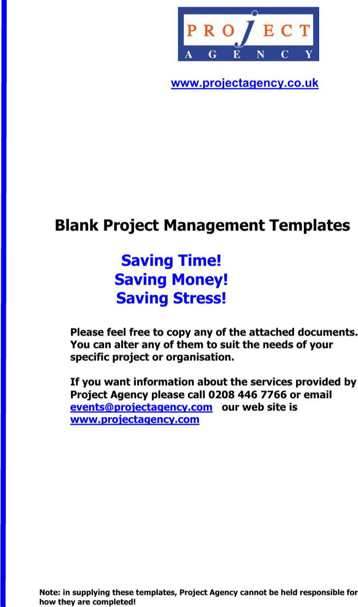 Project Management Action Plan Template  Project Management Action Plan Template