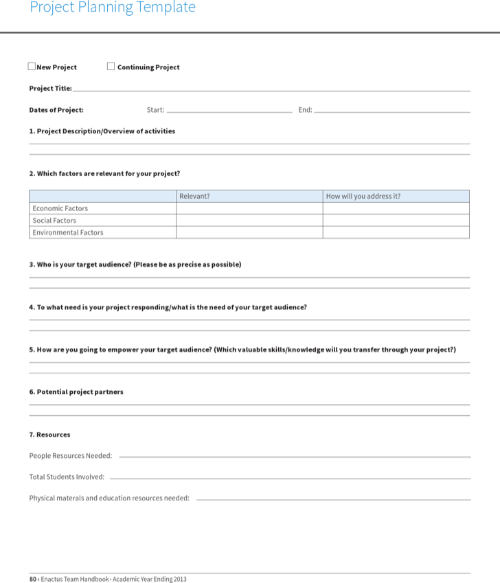 Download Project Planning Sheet Template for Free TidyForm – Project Sheet Template