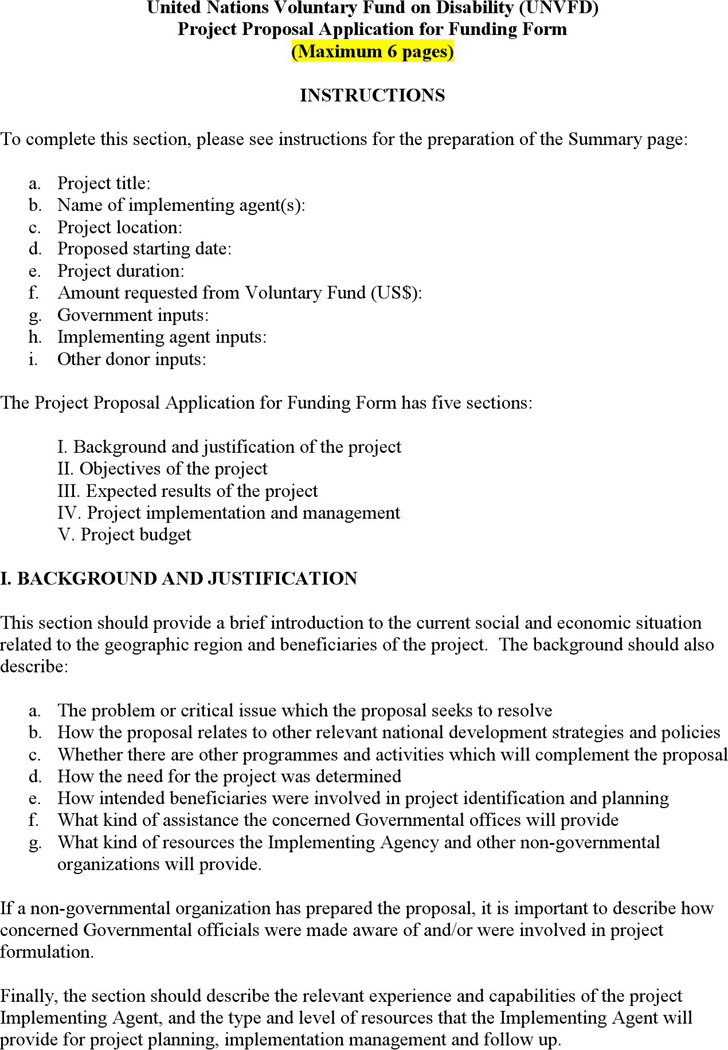 The Project Proposal Form can help you make a professional and – Proposal Form
