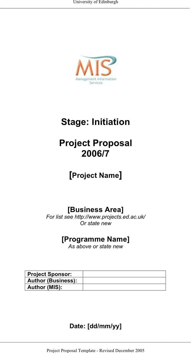 Project Proposal Sample  Project Proposal Template Free