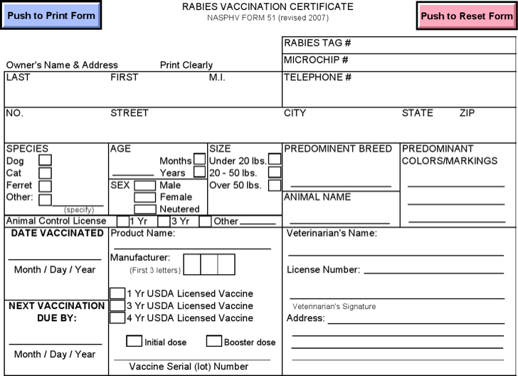 Download Rabies Vaccination Certificate Template for Free - TidyForm