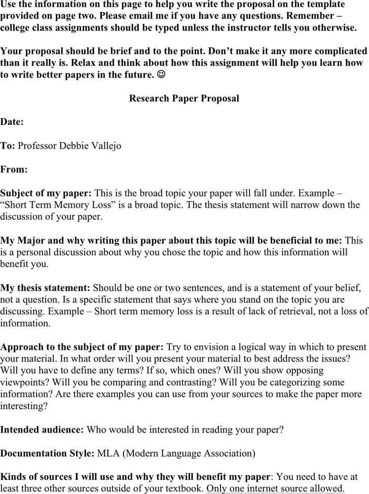 Essay Against Same Sex Marriage Research Paper Proposal Template Good Persuasive Essay Topics For Middle School also A Level Essay Writing Download Research Paper Proposal Template For Free  Tidyform Community Service Essay Samples
