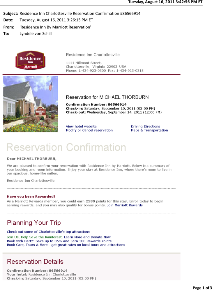 Download reservation confirmation email template for free for The hotel reservation