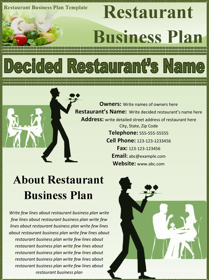 free business plans for restaurants Start here with our business plan samples make a free business plan 2 of america loan to fund the purchase and marketing of a food truck restaurant.