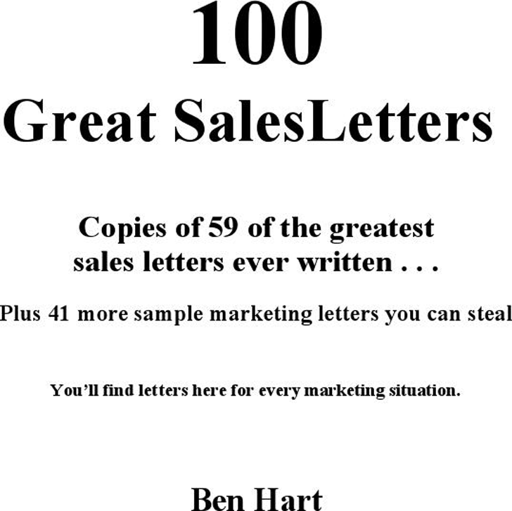 The Sales Letter Sample 1 Can Help You Make A Professional
