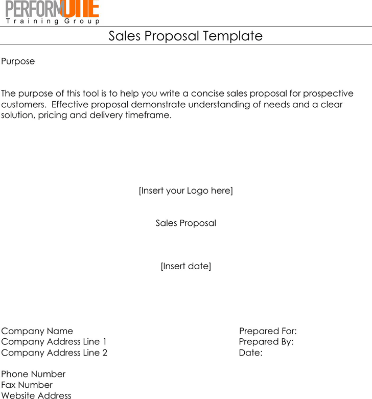 Sale Proposal Sample Etamemibawa