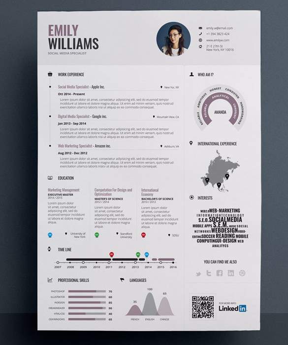 35 Infographic Resume Templates Free Sample Example Format. 1212