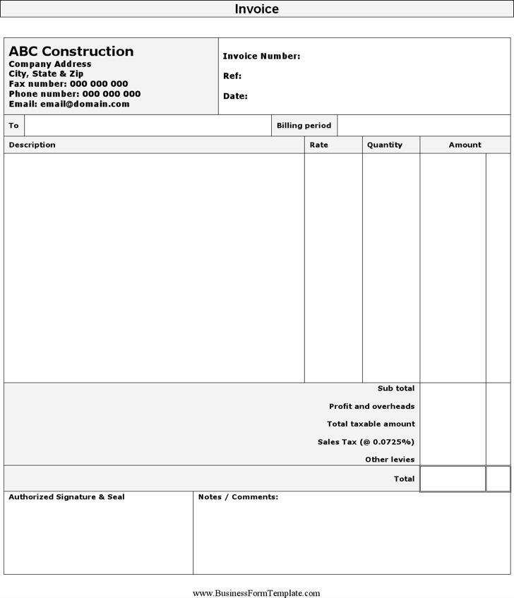 The Self Employed Construction Invoice Template Can Help You Make