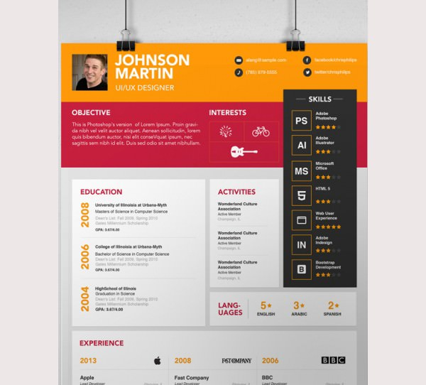 Download simple psd resume template for designers for free tidyform simple psd resume template for designers yelopaper Images