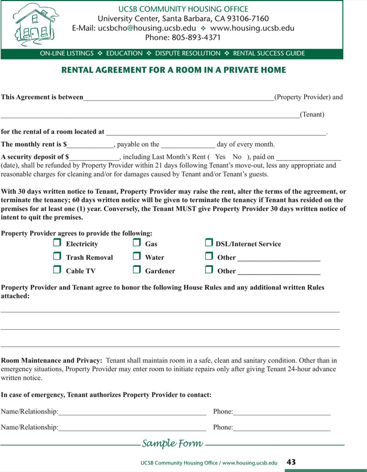 The Simple Room Rental Agreement In Private Home can help you make – Home Rental Agreement