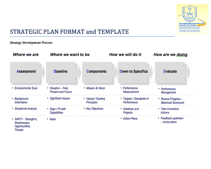 strategic plan format thebridgesummitco