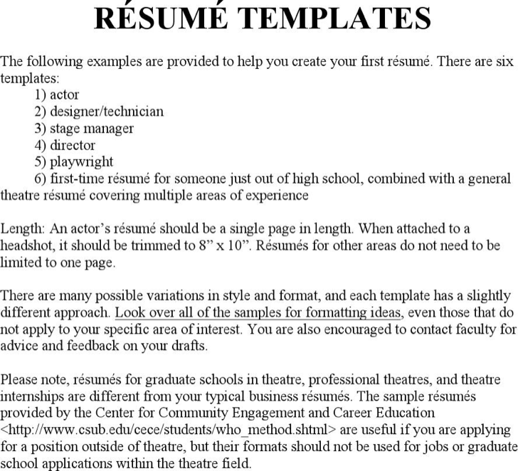 download theatre director resume template for free tidyform