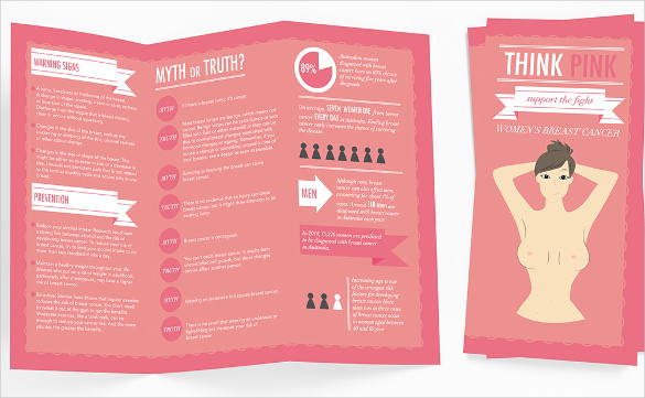 The Typography Breast Cancer Brochure Template Download Can Help