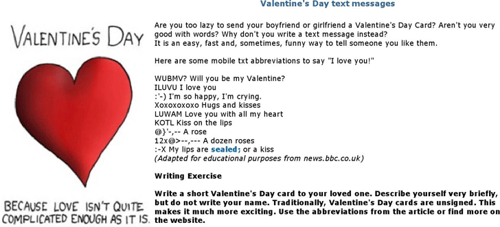 download valentine's day text messages for free - tidyform, Ideas