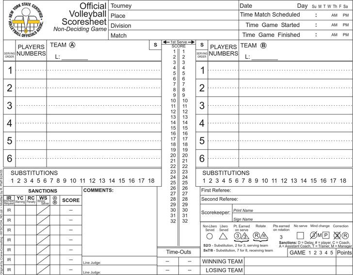 The Volleyball Score Sheet can help you make a professional and – Cheerleading Tryout Score Sheet