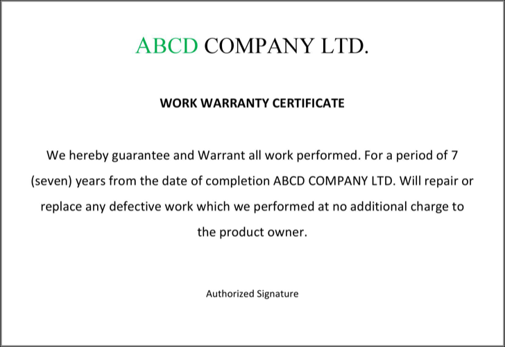 Download Warranty Certificate Format For Free Tidyform