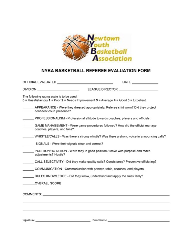 Free Basketball Evaluation Forms Templates  Free Templates In Doc
