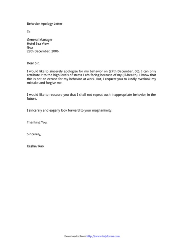 Apology Letter Templates  Free Templates In Doc Ppt Pdf  Xls