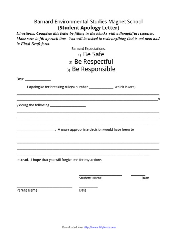 Apology Letter To School Templates  Free Templates In Doc Ppt Pdf
