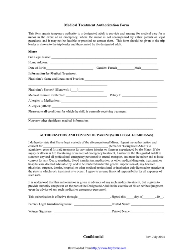 Child Medical Consent Form Templates  Free Templates In Doc Ppt