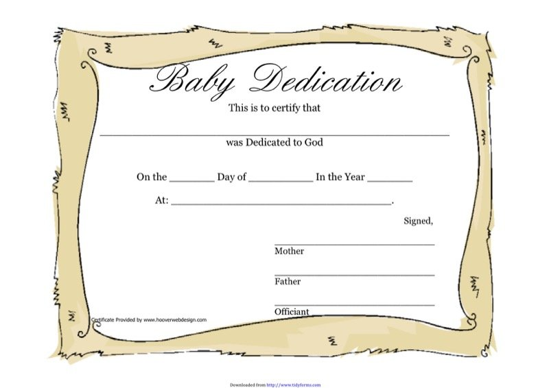 Baby Certificate Templates  Free Templates In Doc Ppt Pdf  Xls