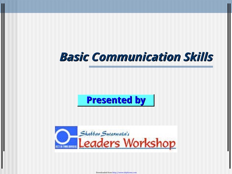 Communication Skills Ppt Templates  Free Templates In Doc Ppt Pdf