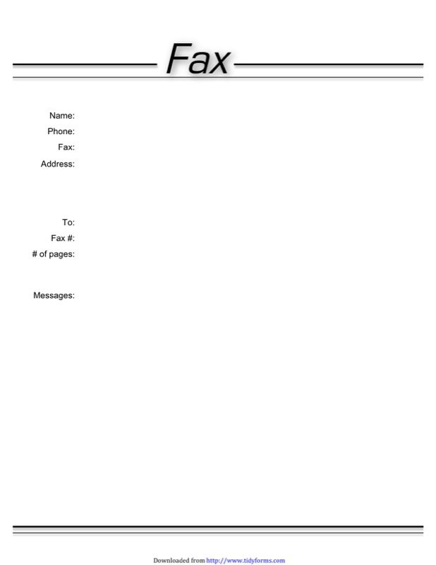Basic Fax Cover Sheet Templates  Free Templates In Doc Ppt Pdf  Xls