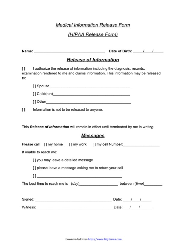 Release Form Templates  Free Templates In Doc Ppt Pdf  Xls