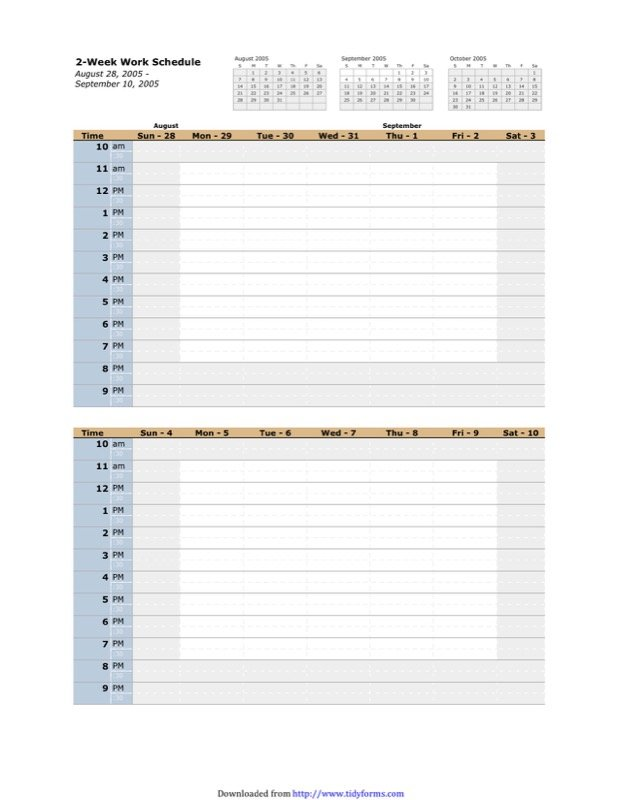 Work Schedule Template - Free Templates in DOC, PPT, PDF & XLS