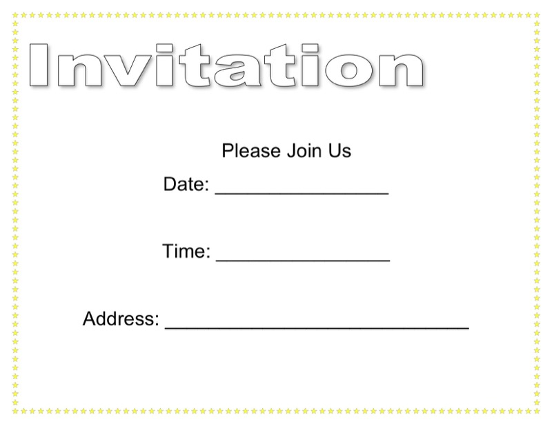 Best Blank Invitation Templates  Free Templates In Doc Ppt Pdf  Xls